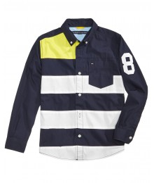 Tommy Hilfiger Blue/White/Yellow Multi Shirt  Big Boy