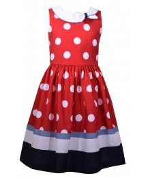 Bonnie Jean Baby Red/White Polks Dot Dress