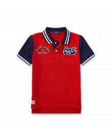 Polo Ralph Lauren Red Cotton Mesh Polo Shirt