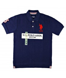 Uspa Navy Chest Polo Shirt
