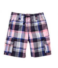 Gymboree Pink Plaid Cargo Shorts Little Boy