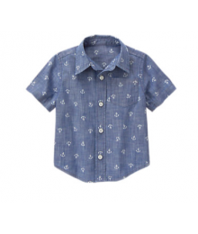 Gymboree Blue Chambray Anchor Shirt