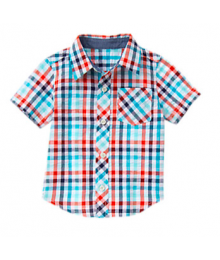Gymboree Blue Multi Check Shirt