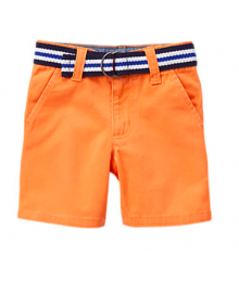 Gymboree Orange/ Black/White Belted Shorts