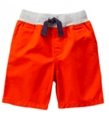 Gymboree Orange Grey Waist Shorts