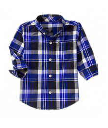 Gymboree Navy Plaid Shirt