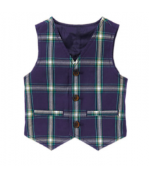 Gymboree Navy Plaid Jacket