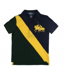 Polo Yellow Banner Dual Pony -Navy/Grn/Yellow