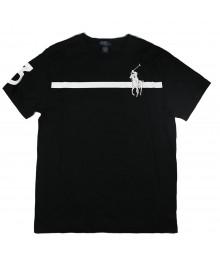 Polo Black Short Sleeved Big Pony White Print