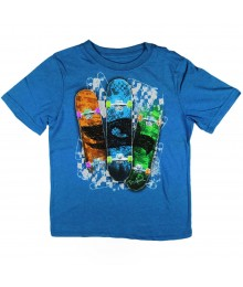 Tony Hawk Blue Tee Multi Surf Board