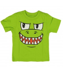 Childrens Place Lemon Grn Boys Tee Wt  Monster Face