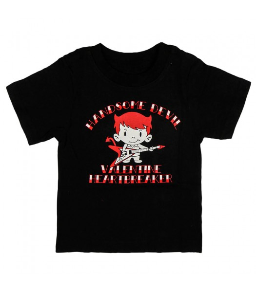"Childrens place black boys tee -""handsome devil"""