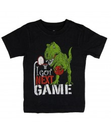 "Childrens Place Grey Boys Tee -Dinosaur""got next game """
