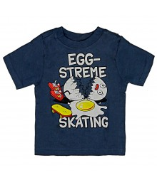 "Childrens Place Grey Boys Tee ""Egg-Streme"