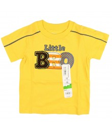Jumping Beans Yellow Tee Wt Lil Bro Plaid Appliq Boys Tee