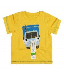 Jumping Beans Yellow Boys Tee Googling Eyes Van