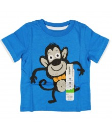 Jumping Beans Blue Boys Tee Wt Monkey Print