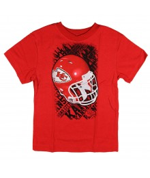 Nfl Red Helmet/Kansas City Boys Tee