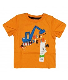 Jumping Beans Orange Boys Tee - Dirty Digger Baby Boy