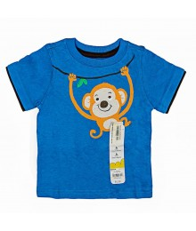 Jumping Beans Blue Boys Tee Fire Swinging Monkey Baby Boy