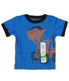 Jumping Beans Blue Boys Tee With Orange Print Loader Baby Boy