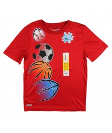 Jumping Beans Red Performance Tee Little Boy