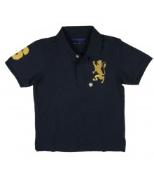Giordano Navy Boys Polo Wt Gold Grest
