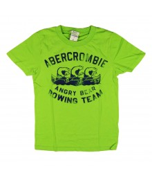 Abercrombie Lemon Green Boys Tee/Angry Bears