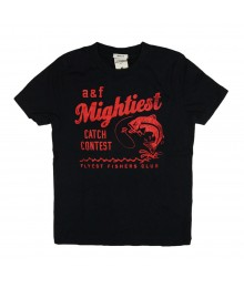 Abercrombie Black Boys Tee/A N F Mightiest - Med