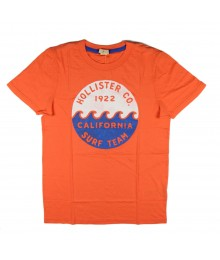 Hollister Orange Boys Tees-  California Surf Team