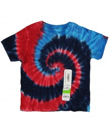 Jumping Beans Blue/Red Tie-Dye Boys Tees