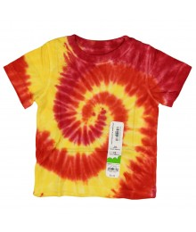 Jumping Beans Yellow/Orange Tie-Dye Boys Tees Little Boy