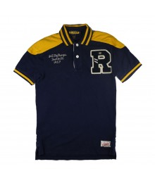 "Rugby RL Navy/Yellow Polo With ""R"""