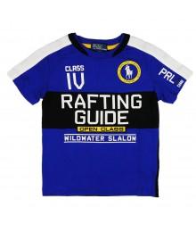 Polo Royal Blue Graphic Rafting Boys Tees