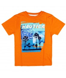 "Nautica orange boys tee- ""nautica 83"""