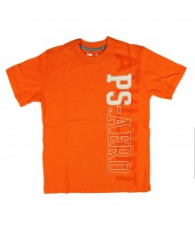 Aeropostale Orange Vertical Ps-Aero Graphic Boys Tee
