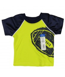 Okie Dokie Lemon/Navy Athletic Boys Tee Baby Boy