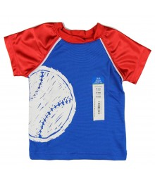 Okie Dokie Blue /Red Athletic Boys Tee