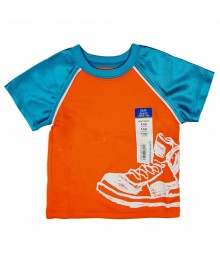 Okie Dokie Orange/Turq Athletic Boys Tee