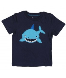 Carter Navy Happy Shark Boys Tee