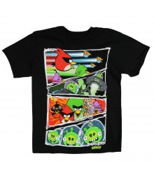 Angry Brid Black Boys Tee Little Boy