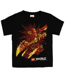 Ninjago Black Graphic Boys Tee