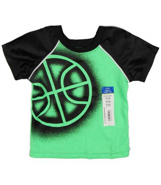Okie Dokie Green/Black  Athletic Boys Tee Baby Boy