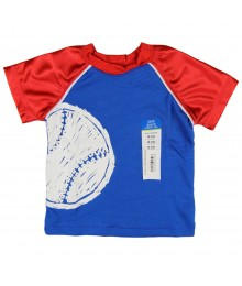 Okie Dokie Blue/Red  Athletic Boys Tee Baby Boy