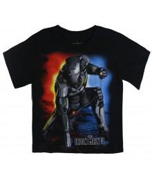 Iron Man Black Graphic Boys Tee