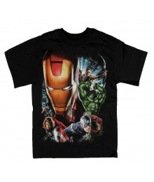 Avengers Black Graphic Boys Tee