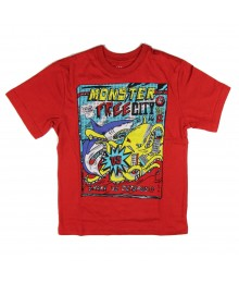 Childrens Place Red Monster Free Graphic Boys Tee
