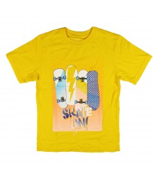 Childrens Place Yellow Skate On Graphic Boys Tee