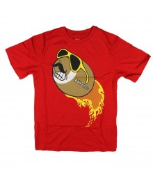 Childrens Place Red Football Flame Graphic Boys Tee