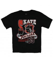 Childrens Place Black Skate Hero Graphic Boys Tee